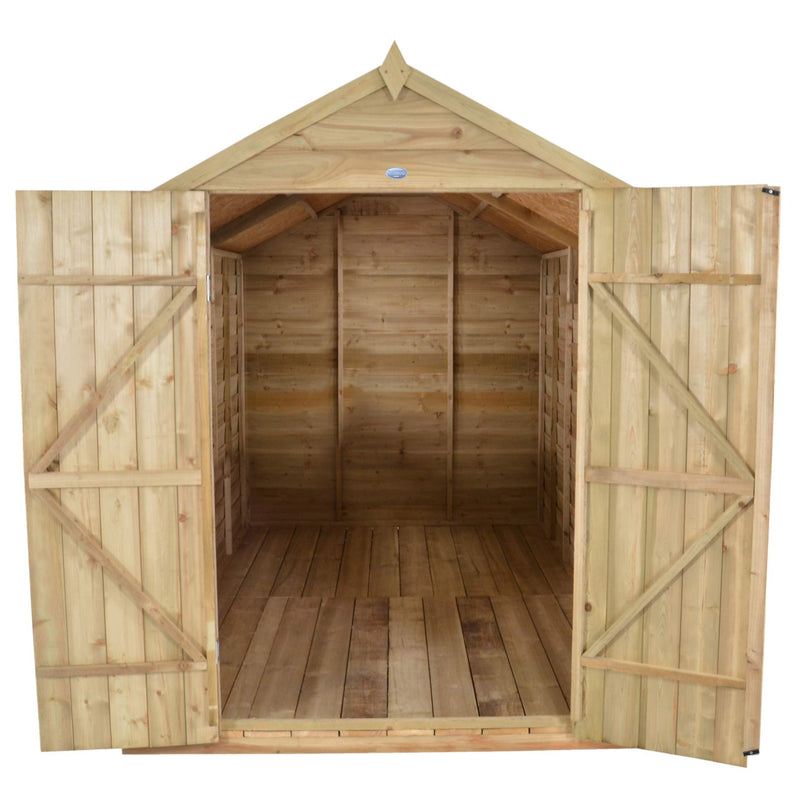 Forest Garden 10x8 Apex Security Overlap Garden Shed -