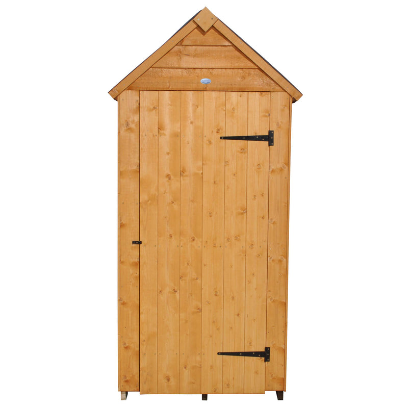 Forest Garden 3x5 Apex Security Overlap Garden Shed - Dip