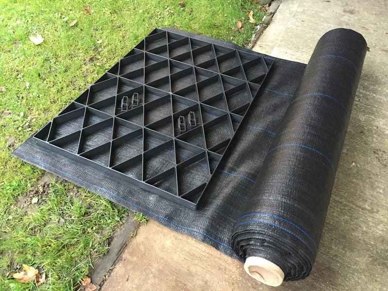 GARDEN SHED BASE GRID 14x10 = FULL ECO KIT 4.3m x 3m + HEAVY