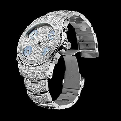 JBW Men's Jetsetter Diamond 50mm Steel Bracelet Swiss Quartz