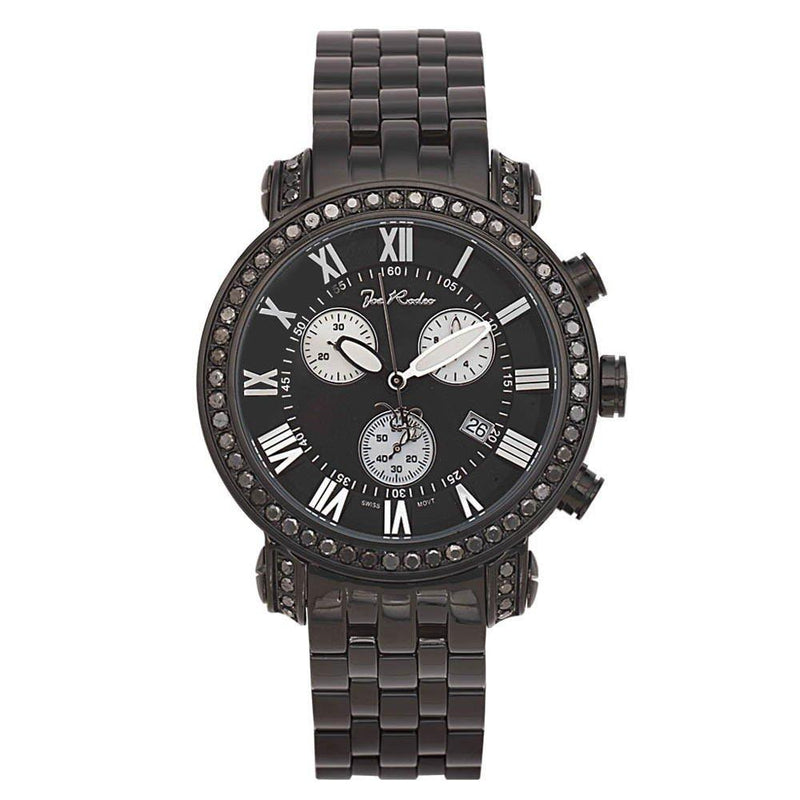 Joe Rodeo Diamond Men's Watch - Classic Black 6 ctw