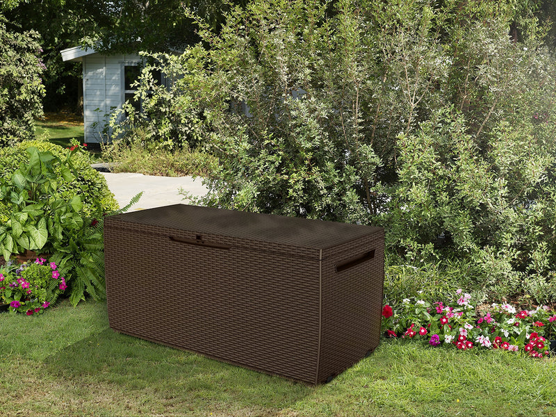 Keter Capri Outdoor Plastic Storage Box Garden Furniture 123