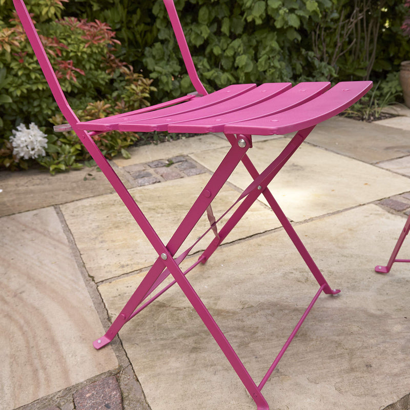 Kingfisher FSBT1 Pink Metal Bistro Conservatory/Outdoor