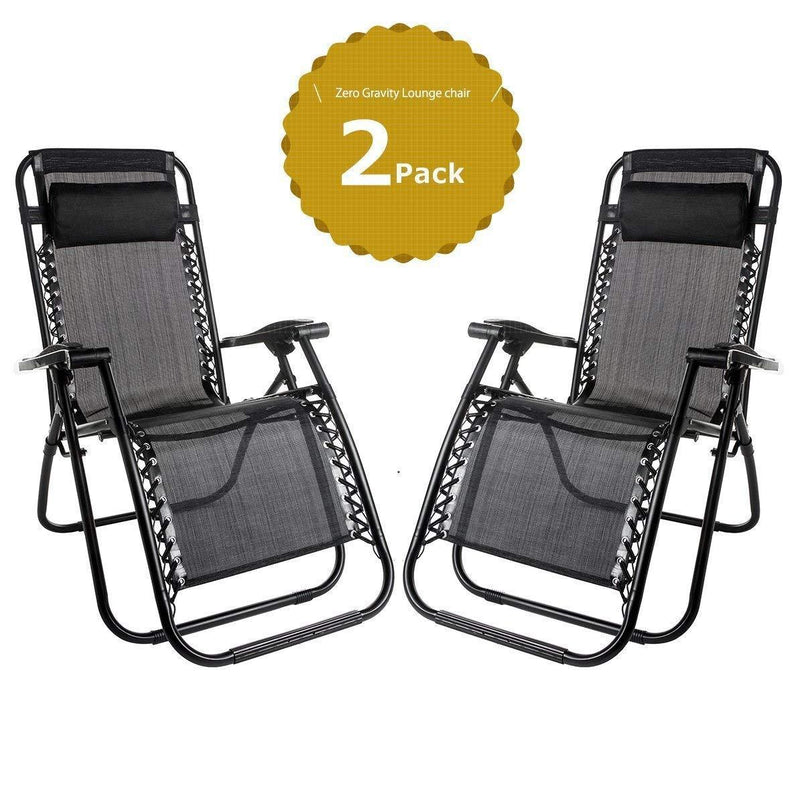 Leisure Zone Set of 2 Heavy Duty Textoline Zero Gravity