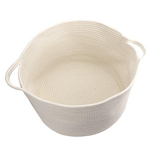 Life Glow Cotton Rope Storage Baskets With Handles Soft
