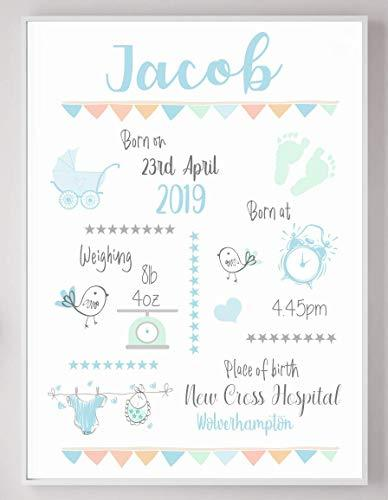 Little Robin Designs Personalised Christening Birth New Baby