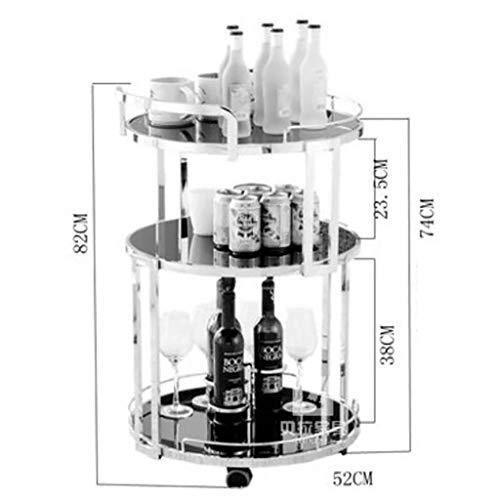 LQUIDE -Tiers Bar Cart Serving Rolling Trolley Tea Coffee