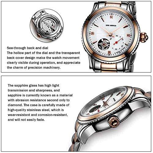 Mens Automatic Self-Wind Mechanical Watch with Solid