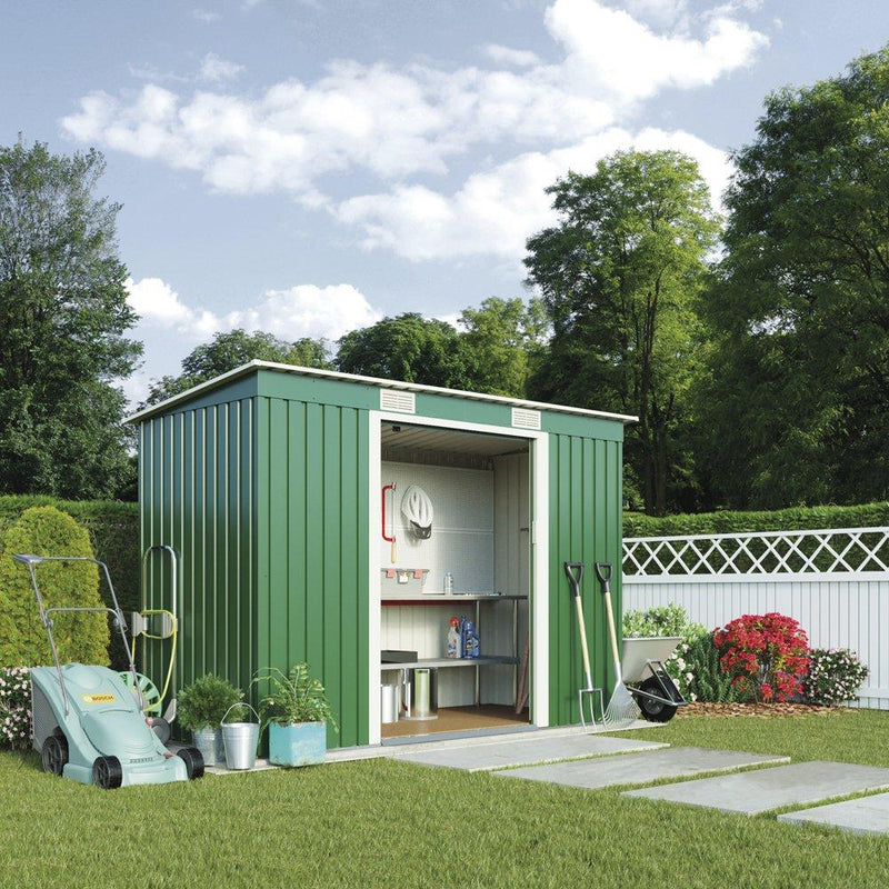 Metal Garden Shed Small Outdoor Storage 6.6 x 4 with Sliding