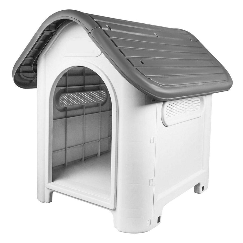 Mighty Plastic Dog Cat Kennel House Weatherproof For Indoor