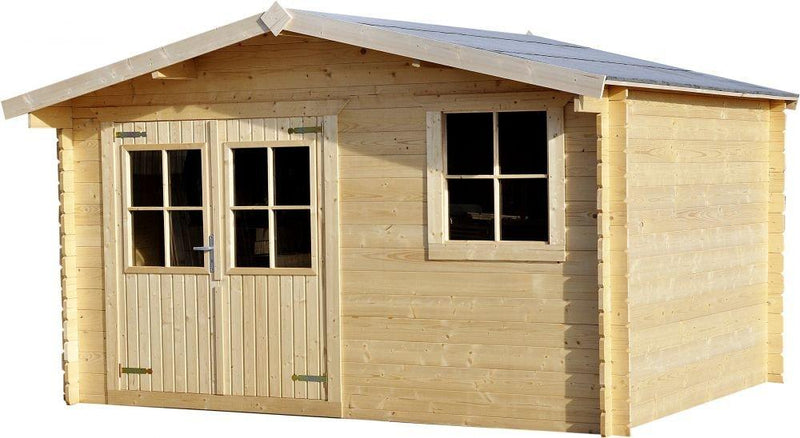 Mira Timber Log Cabin Shed 3.88m x 2.98m 28mm
