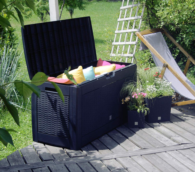 Mojawo Plastic Storage Box Cushion Box Garden Box with