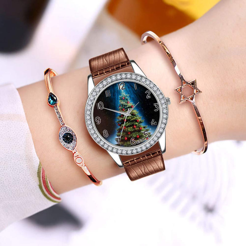Naisidier Classical Watch Christmas Pattern with Auger