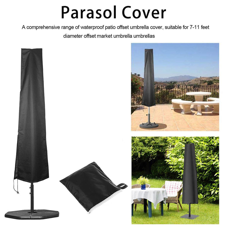 OKPOW Parasol Cover 600D Oxford Fabric Waterproof Patio