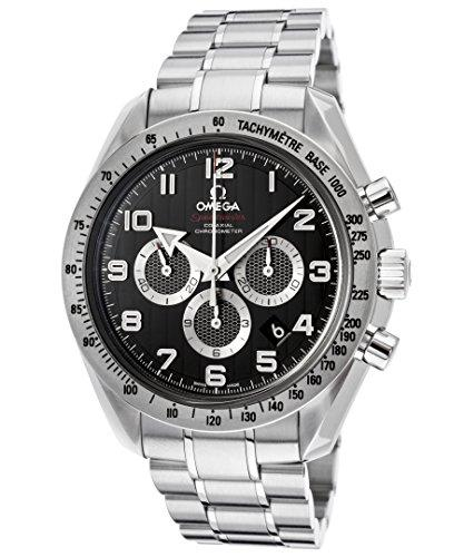 Omega Men's Speedmaster Chronograph Black Dial Stainless