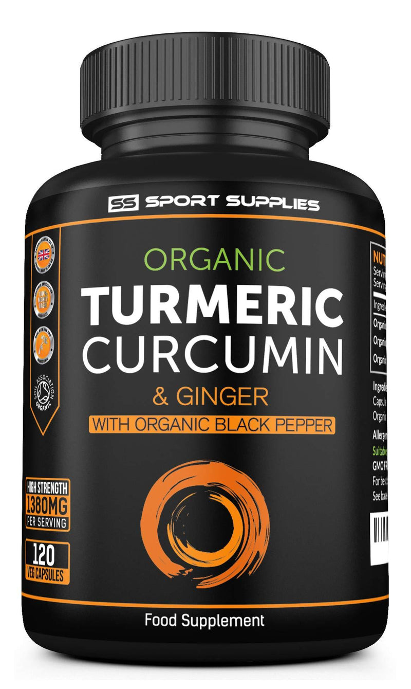 Organic Turmeric Capsules High Strength and Black Pepper