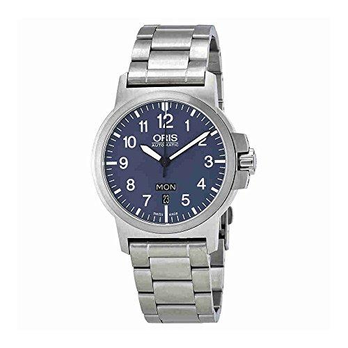 Oris BC3 Advanced Day Date Blue Dial Stainless Steel Men's
