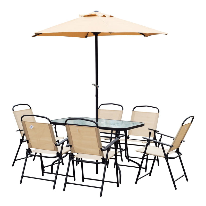 Outsunny 8 Pieces Dining Set Pation Furniture Garden
