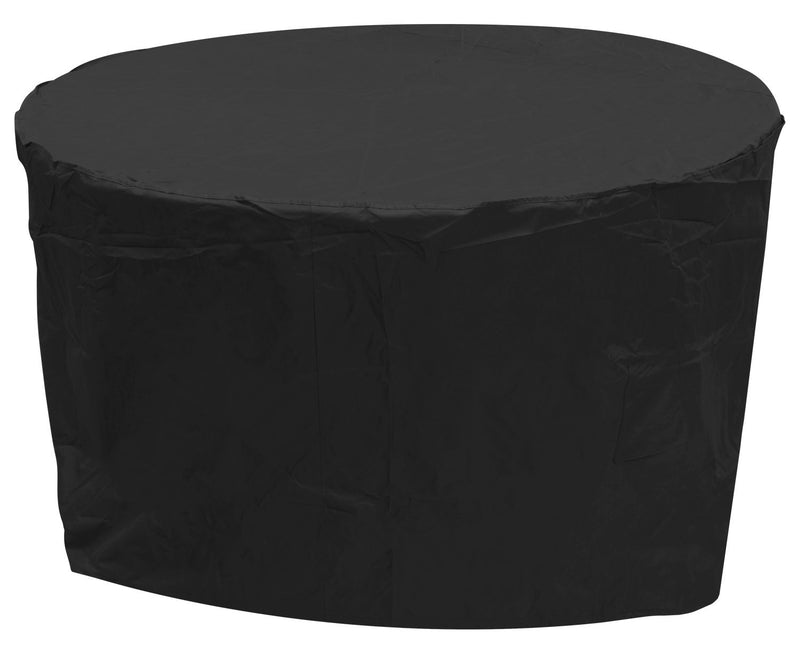 Oxbridge Black Medium Round Outdoor Garden Patio Furniture