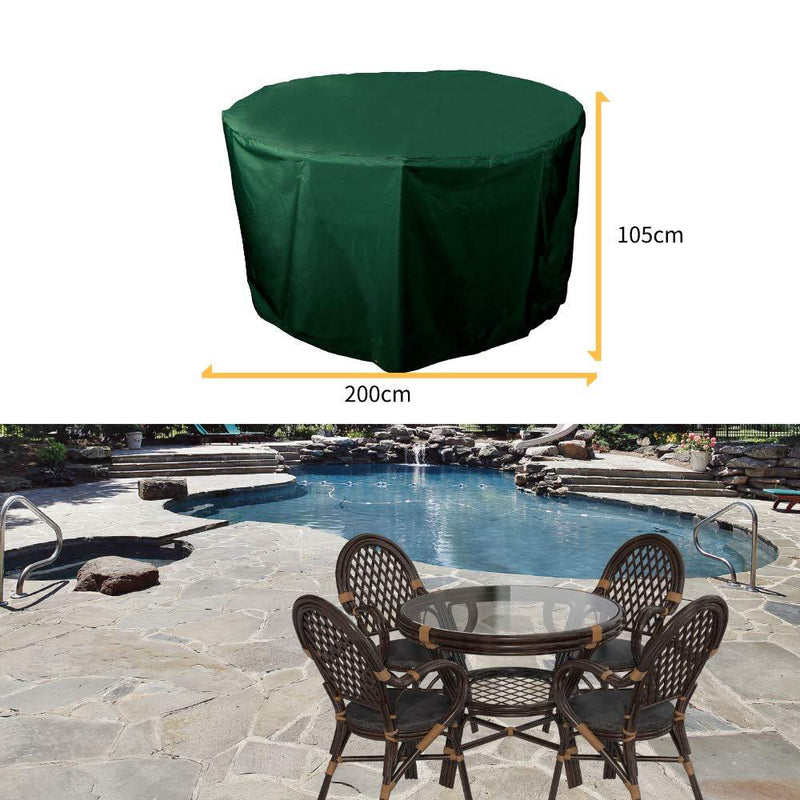 PATIO PLUS Large Round Garden Furniture Cover for table and