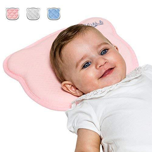 Plagiocephaly Baby Pillow with Two Removable Covers for The