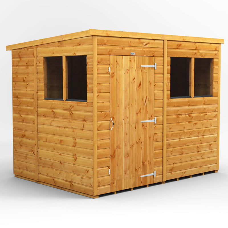 Power Sheds | 8x6 Power Pent Wooden Garden Shed | Size 8 x 6