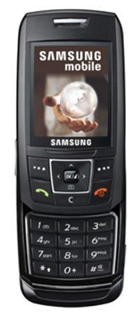Samsung E250 SLIDE Design Bluetooth Mobile Phone - Black -