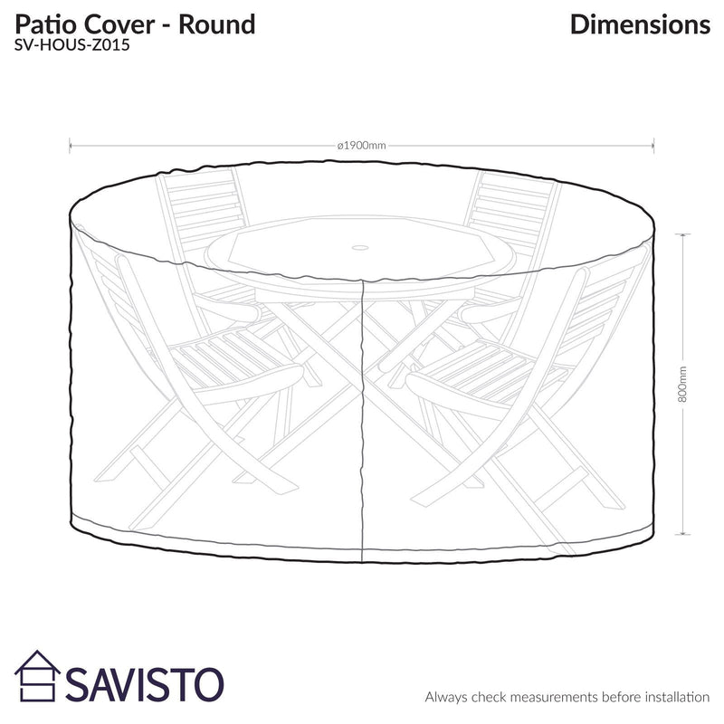 Savisto Large Round All Weather Patio / Garden Outdoor