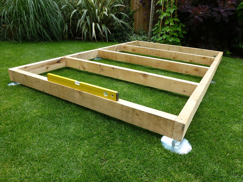 SHED BASE SYSTEM- QUICK JACK FOR SOFT SURFACES- SUITABLE FOR