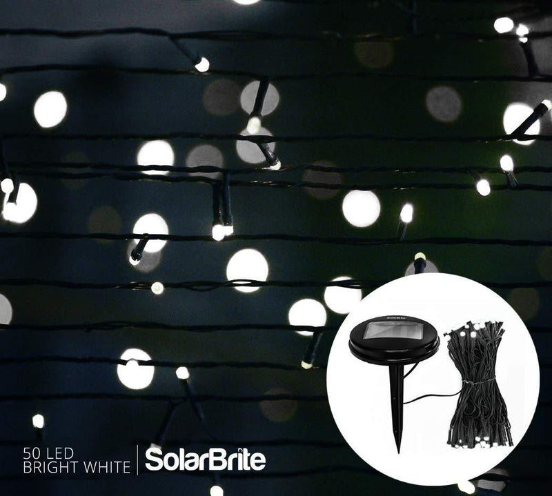 Solar Brite Deluxe 50 LED Super Bright White Decorative