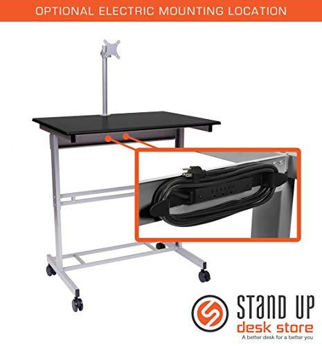 Stand Up Desk w/ Monitor Mount (40 Black)