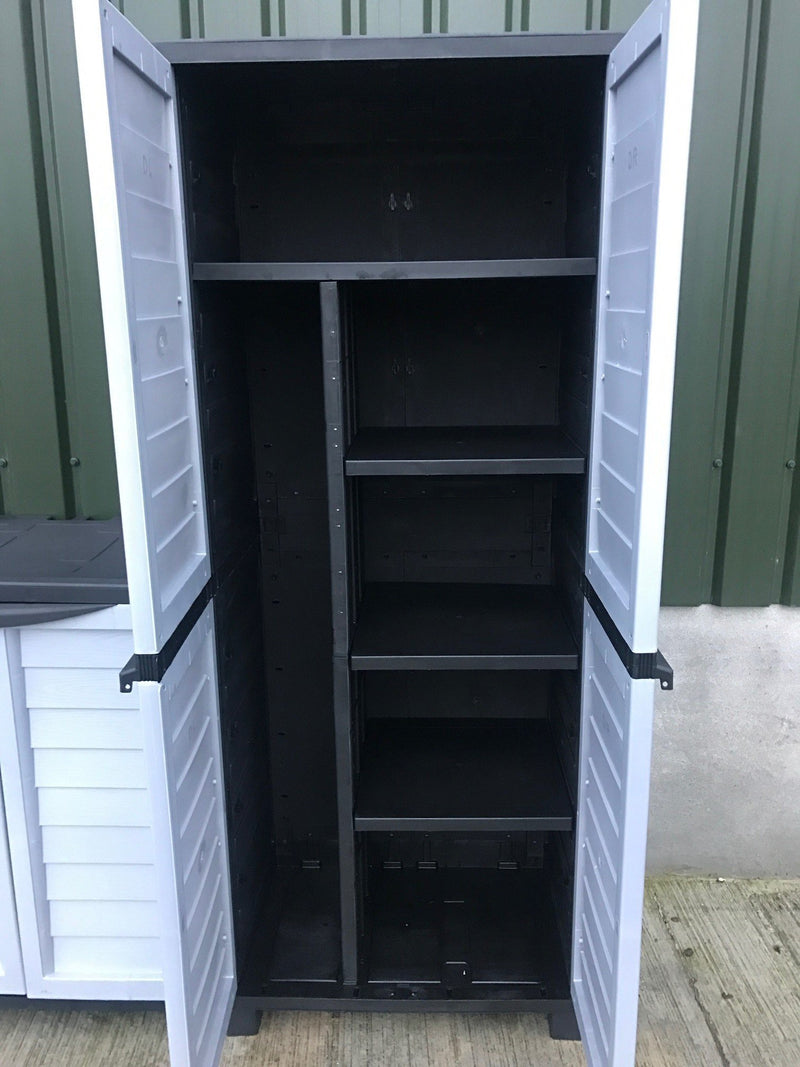 Starplast Heavy Duty Cabinet With 4 Shelves And Side Storage