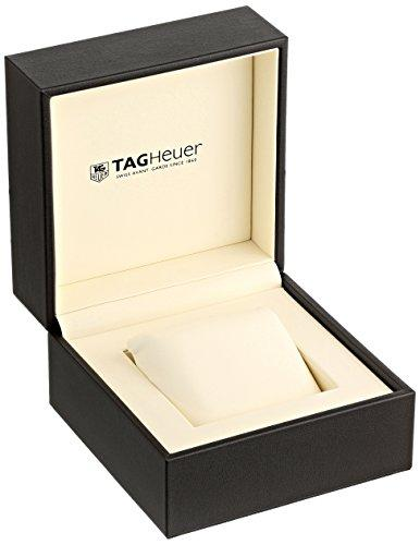 TAG Heuer Men's 43mm Black Rubber Band Steel Case Swiss