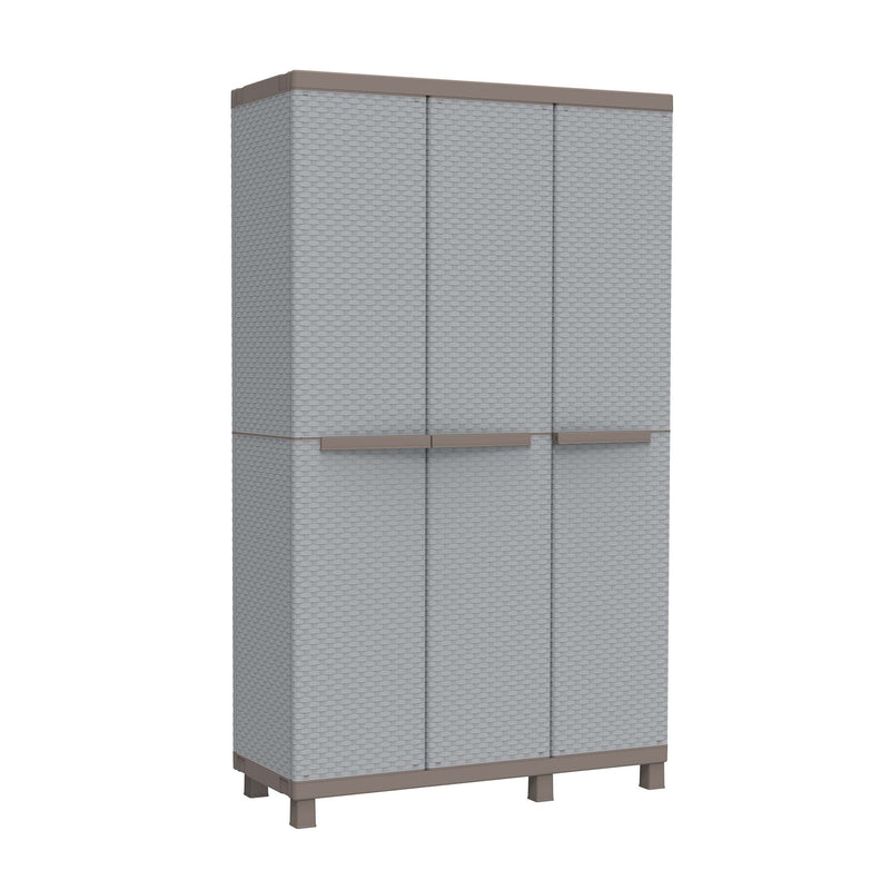 Terry C-Rattan 102A Tall Plastic Cabinet with 3 Doors 102 x