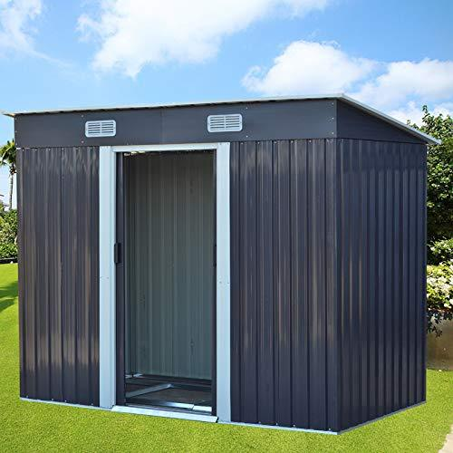 The Fellie Metal Garden Shed for Tools Kit Storage