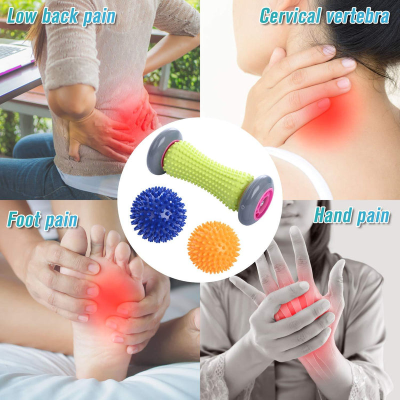 TOBREFE Plantar Fasciitis Foot Roller Massage for Back Pain