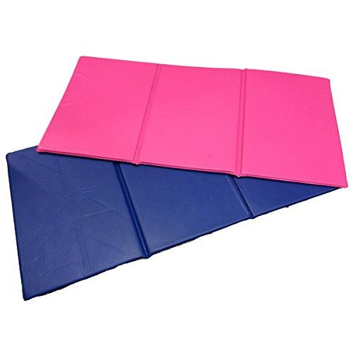Triple Folding Nursery Sleep Mat in Blue/Pink for Children &