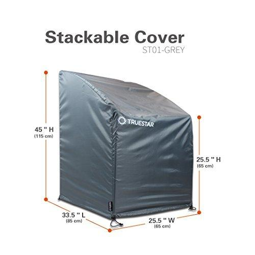 TRUESTAR Garden Stacking Chair Cover | Oxford + PU Coating|