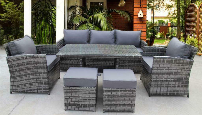 UK Leisure World NEW RATTAN WICKER CONSERVATORY OUTDOOR