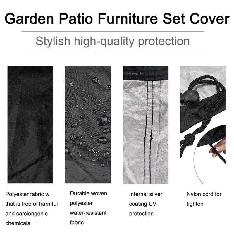 V GEBY 210D Garden Furniture Cover Waterproof Rectangular