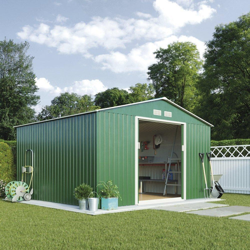 WALTONS EST. 1878 Metal Apex Garden Shed Outdoor Storage 9.1