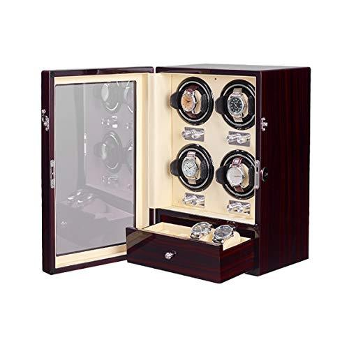 Watch Winder Piano Finish with Adjustable Watch Pillows