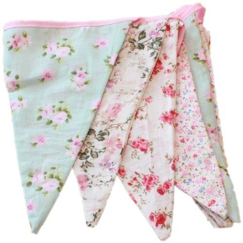 West5Products English Vintage Floral Design Party Bunting (3
