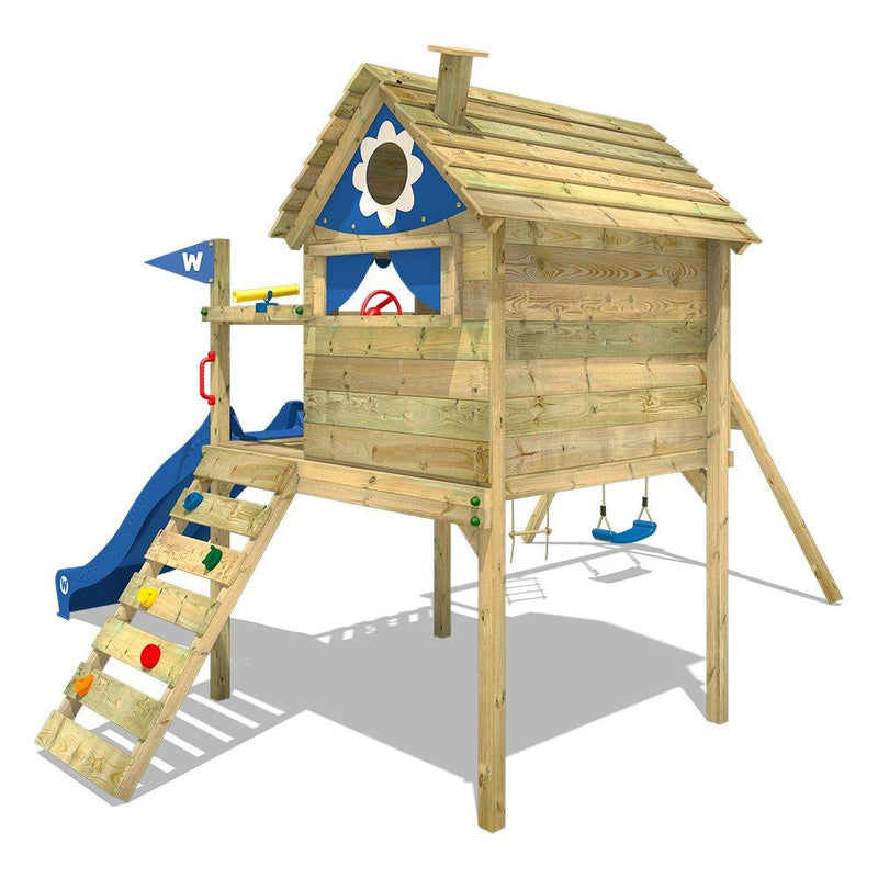 WICKEY Playhouse on Stilts Smart Travel Climbing Frame