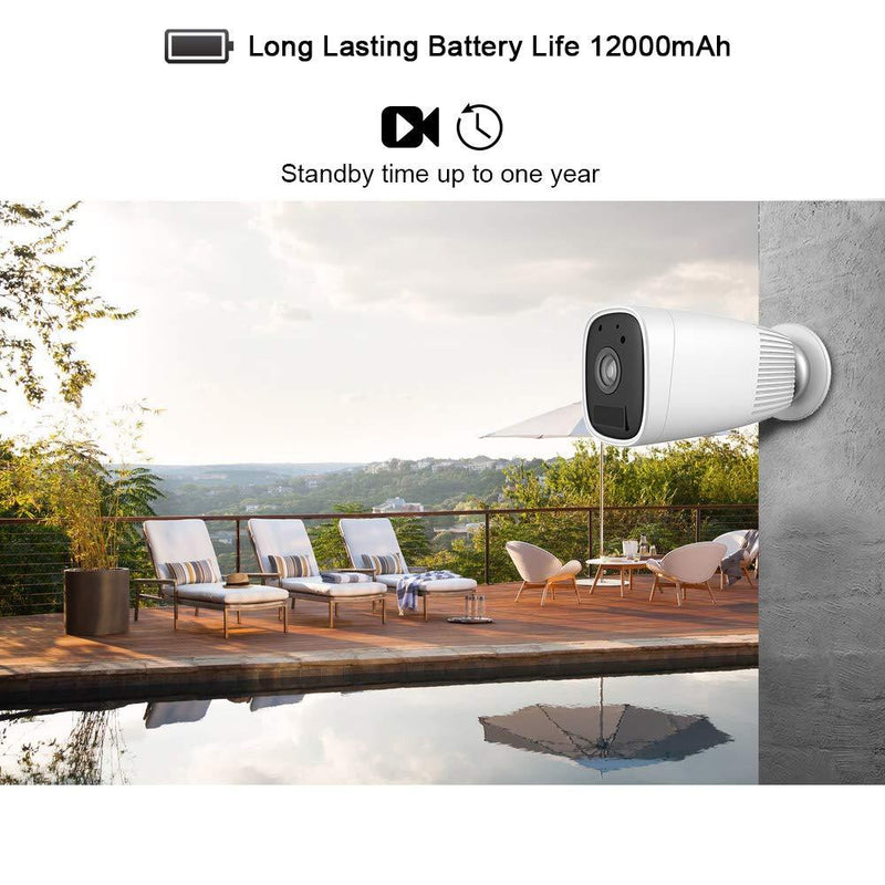 Wireless Battey Powered Security Camera,1080P Home Security