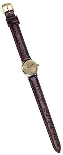 Woodford Womens Swiss Made 9ct Gold Leather Watch -