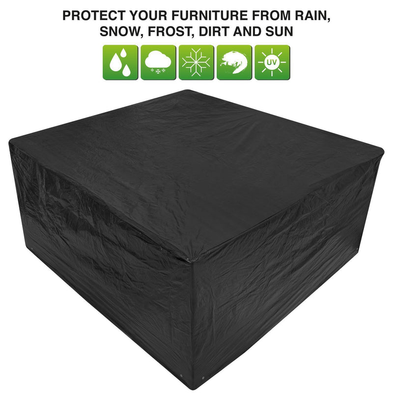 Woodside Black Medium Patio Set/Oval/Rectangle Table Cover
