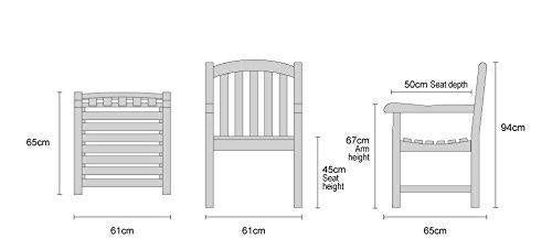 Wordsworth Large 12 Seater Teak Garden Dining Set - Premium