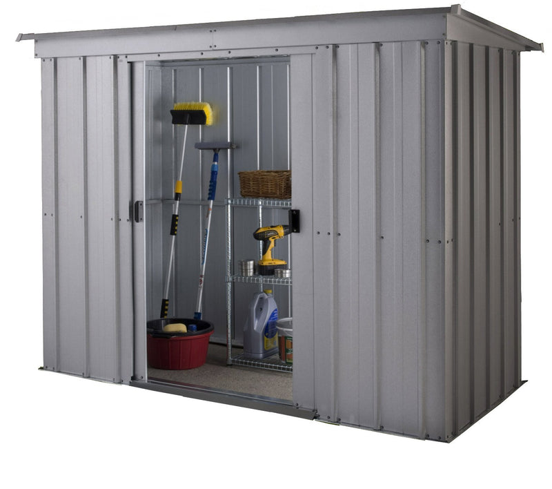 Yardmaster 8 x 4 ft Store-All Pent Roofed Metal Shed -