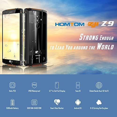 YHZB -HOMTOM Z9 Triple Proofing Phone Dual 4G 6GB+64GB IP68